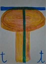 Alfabeto illustrato steineriano T