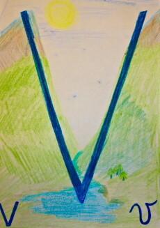 Alfabeto illustrato steineriano V