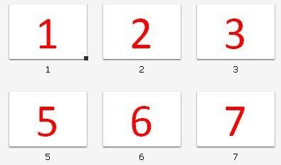 cartelli dei numeri Montessori da 1 a 10