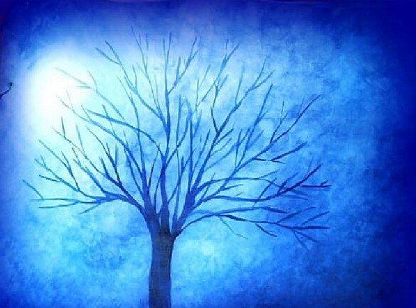 Acquarello steineriano l albero in inverno lapappadolce - Immagine dell albero a colori ...
