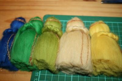 Mobile in lana cardata per la culla del neonato 19