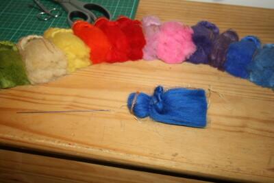 Mobile in lana cardata per la culla del neonato 22