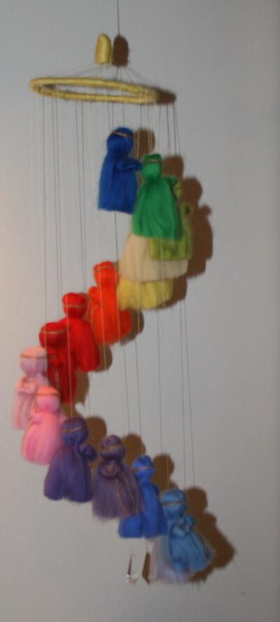 Mobile in lana cardata per la culla del neonato 25