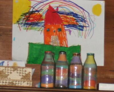 Bottigliette di sale colorato 3