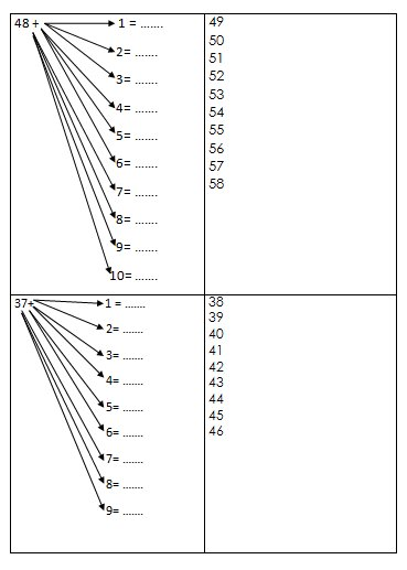 Schede autocorrettive ADDIZIONI - seconda classe 20