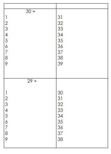 Schede autocorrettive ADDIZIONI - seconda classe 5