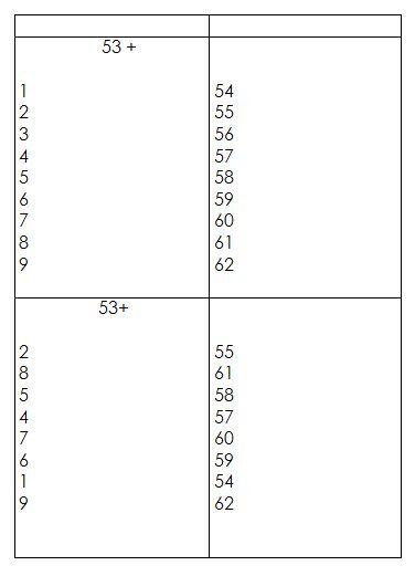 Schede autocorrettive ADDIZIONI - seconda classe 6