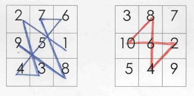 Quadrati magici per esercitarsi con l'addizione 13