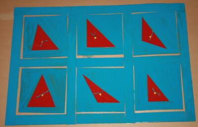 Cofanetto delle figure geometriche piane Montessori presentazione ed esercizi 17