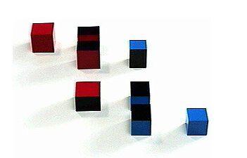 Il cubo del binomio Montessori 1
