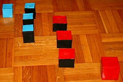 Il cubo del binomio Montessori 2