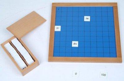 La tavola del 100 Montessori 1