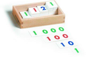 cartelli dei numeri Montessori