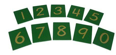 cifre smerigliate  o numeri tattili Montessori