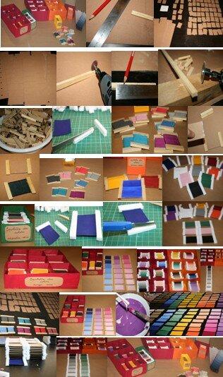 spolette dei colori Montessori collage
