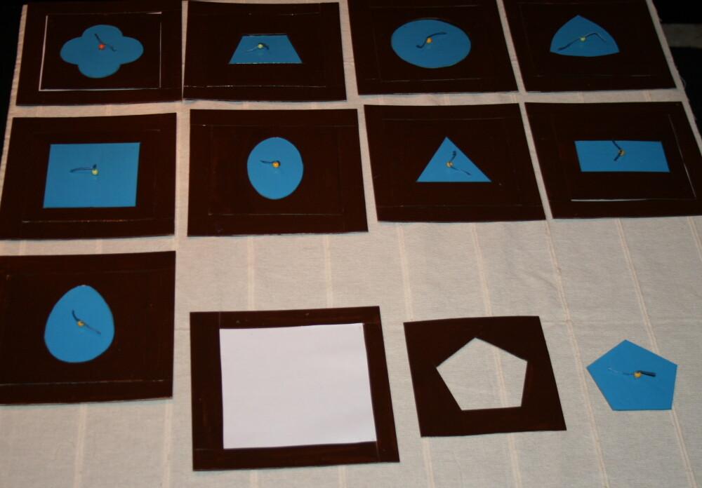 DIY Montessori metal insets