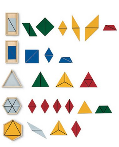 I triangoli costruttori Montessori 1