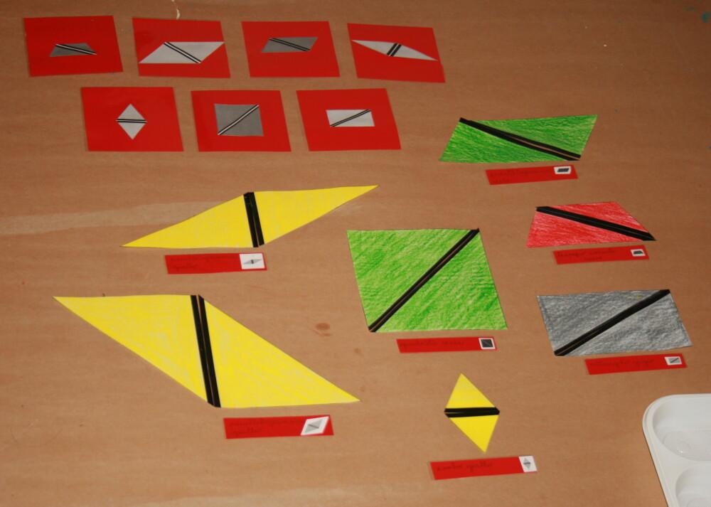 DIY Montessori constructive triangle boxes