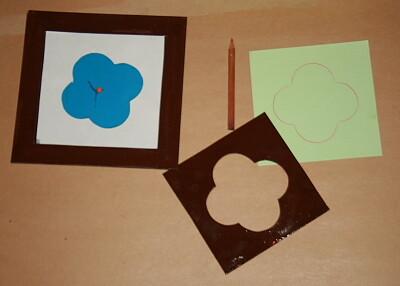 Prescrittura Montessori - come si usano gli incastri metallici 10