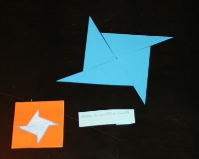 DIY Montessori blue triangles