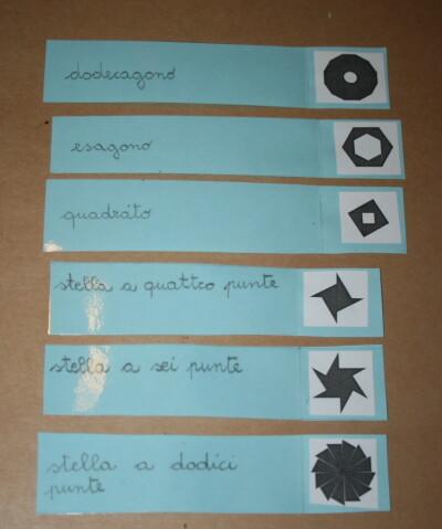 Triangoli blu Montessori 7