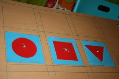 Tutorial DIY Montessori costruire il cofanetto delle figure geometriche 20