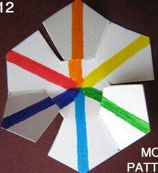 Esperimenti scientifici per bambini - Girandole e trottole per studiare lo spettro della luce 7