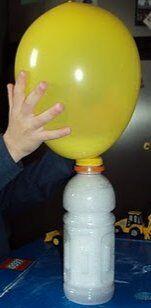 Esperimenti scientifici per bambini - Gonfiare un palloncino con l'anidride carbonica 1