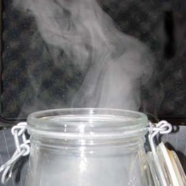 Science experiments for children - Make clouds in a jar