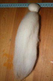 Angelo di lana cardata bianco - versione semplice 13