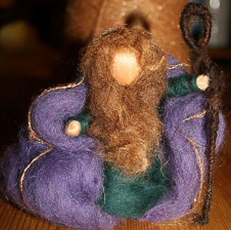 Presepe in lana cardata tutorial - Maria, Giuseppe, Gesù bambino, i pastori e i Re Magi 20