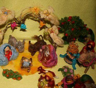 Presepe in lana cardata tutorial - Maria, Giuseppe, Gesù bambino, i pastori e i Re Magi 37