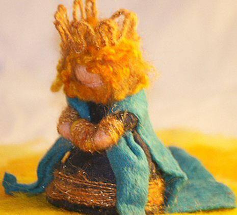 Presepe in lana cardata tutorial - Maria, Giuseppe, Gesù bambino, i pastori e i Re Magi 41