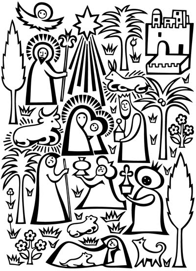 Line Drawing Nativity : Idee per fare il presepe lapappadolce
