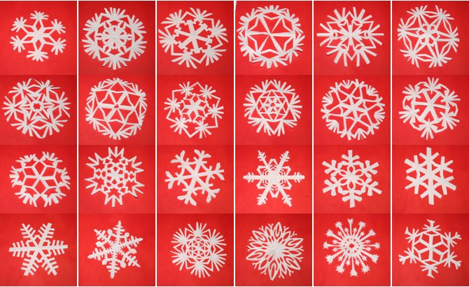 Tutorial fiocchi di neve di carta