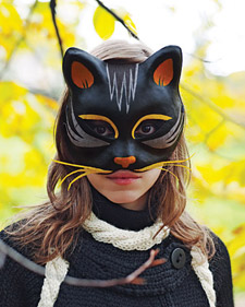 Travestimenti 80 e pi idee non solo per carnevale - Pagina colorazione maschera gatto ...