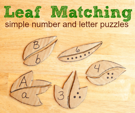 Leaf-Matching-simple-number-and-letter-puzzles-
