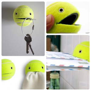 Tennis Ball Christmas Crafts