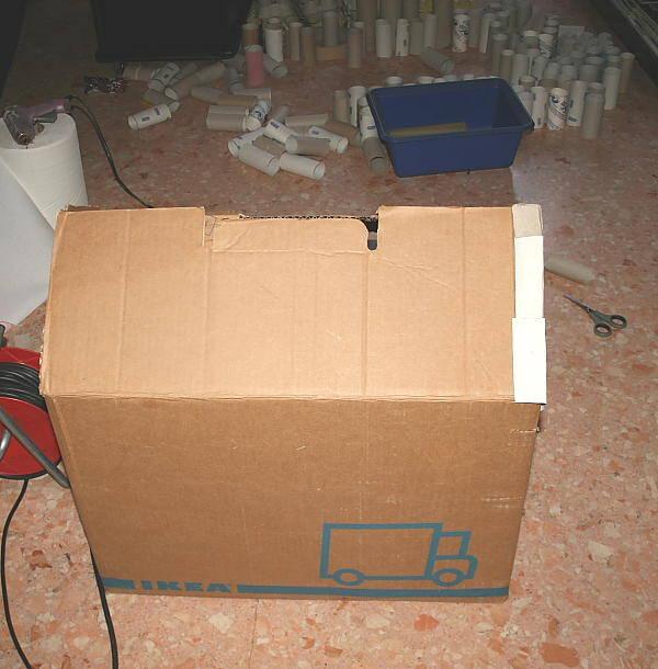 casa di cartone riciclato2