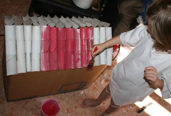 Fattoria degli animali in cartone riciclato lapappadolce