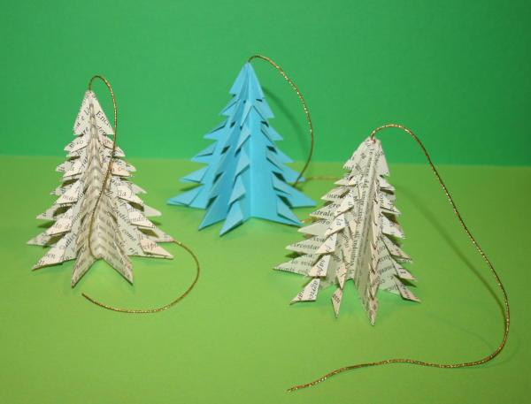 Addobbi natalizi fai da te alberello origami lapappadolce - Addobbi natalizi per finestre scuola infanzia ...
