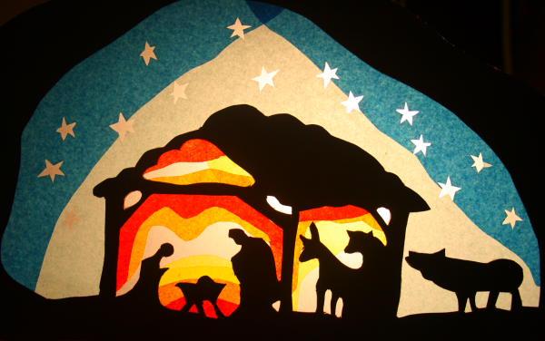 Decorazioni natalizie quadretto trasparente lapappadolce - Decorazioni natalizie in cartoncino ...