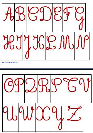 alfabeto mobile MAIUSCOLO scuola primaria ROSSO.