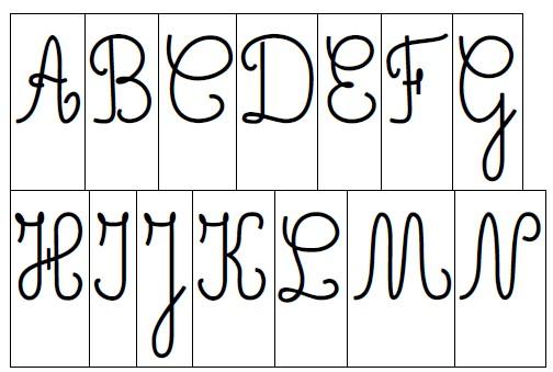 alfabeto mobile maiuscolo nero
