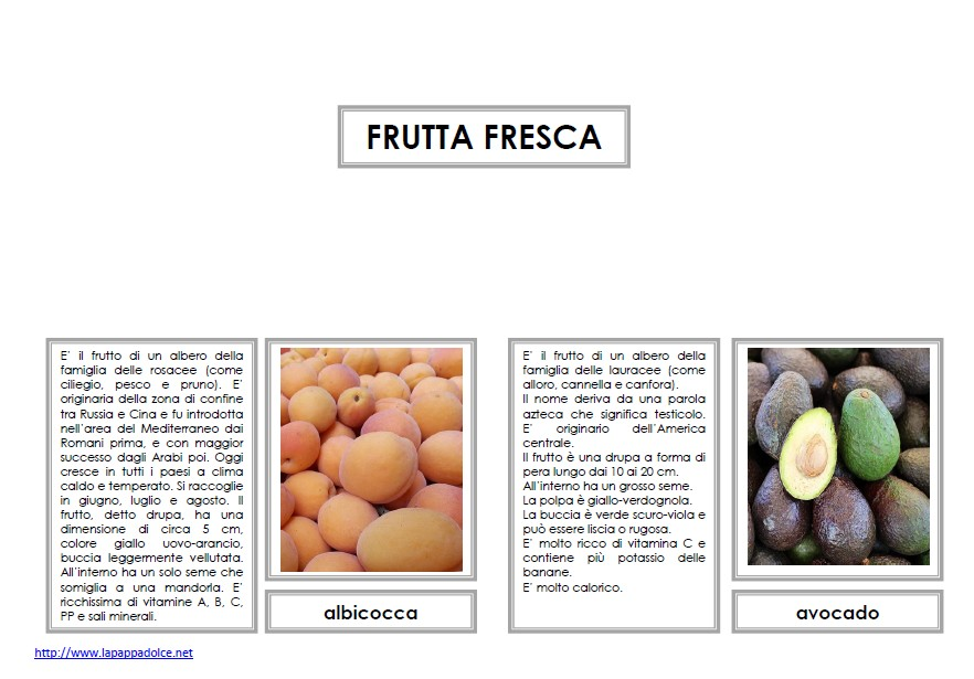 nomenclature 6-9 FRUTTA FRESCA 71