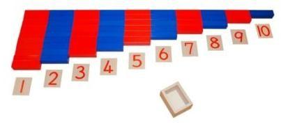 aste numeriche con numeri in legno