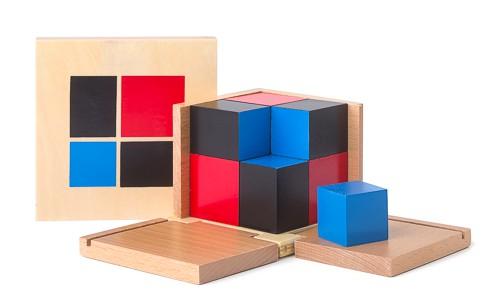 cubo del binomio Montessori