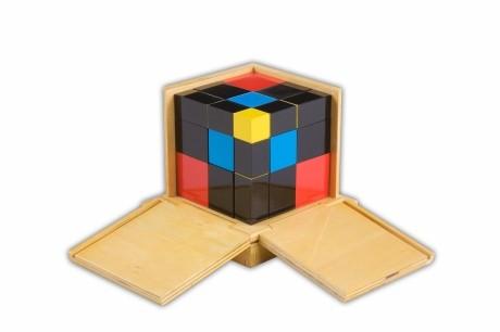 cubo del trinomio Montessori