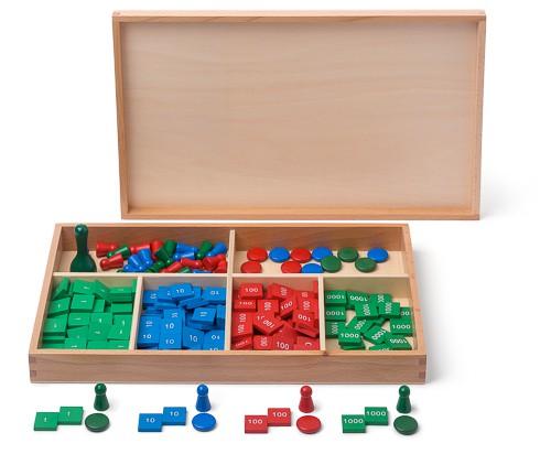gioco dei francobolli Montessori