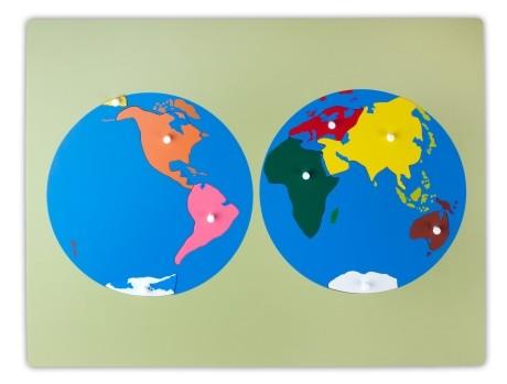 grande puzzle dei continenti